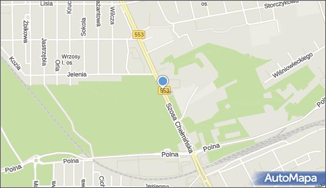 Toruń, Szosa Chełmińska, mapa Torunia