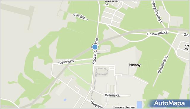 Toruń, Szosa Okrężna, mapa Torunia