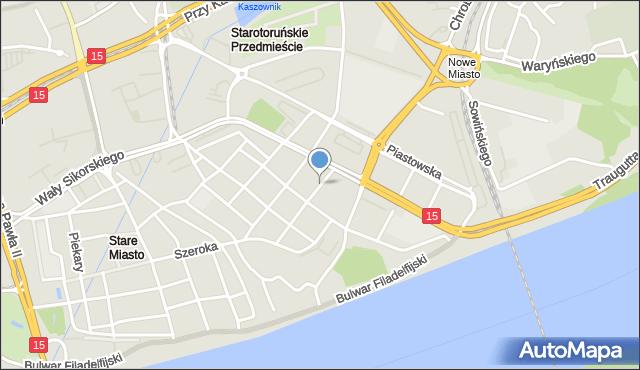 Toruń, Szpitalna, mapa Torunia
