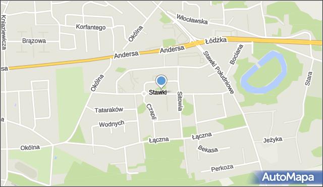 Toruń, Szuwarów, mapa Torunia