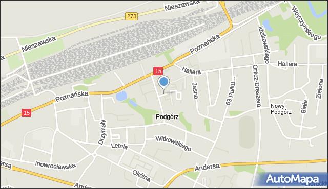 Toruń, Szyszkowskiego Wacława, mapa Torunia