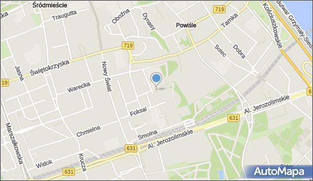 Warszawa, Szczygla, mapa Warszawy