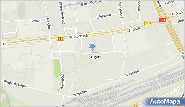 Warszawa, Szarych Szeregów, mapa Warszawy