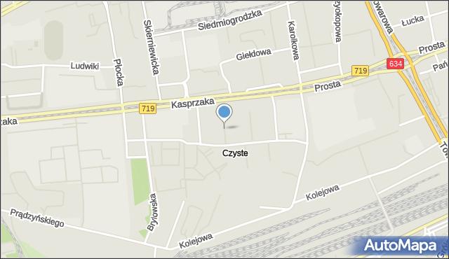 Warszawa, Szymańskiego Edwarda, mapa Warszawy