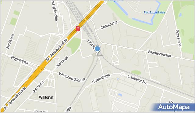 Warszawa, Szybka, mapa Warszawy