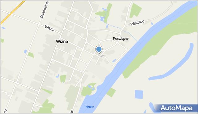 Wizna, Szkolna, mapa Wizna