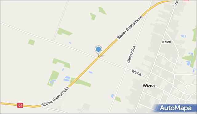 Wizna, Szosa Białostocka, mapa Wizna