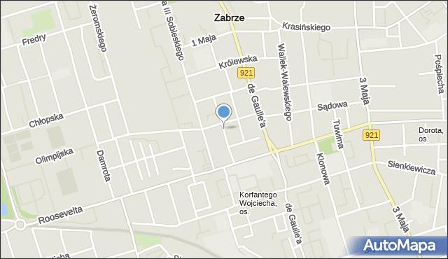Zabrze, Szczepaniakowej Stefanii, mapa Zabrza