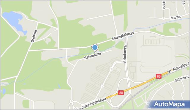 Zabrze, Szkubacza Ryszarda, plut., mapa Zabrza