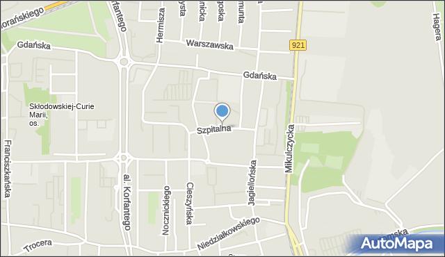 Zabrze, Szpitalna, mapa Zabrza