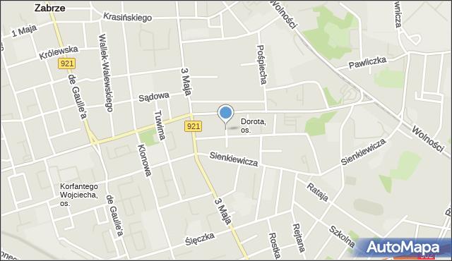 Zabrze, Szramka, ks. dr., mapa Zabrza