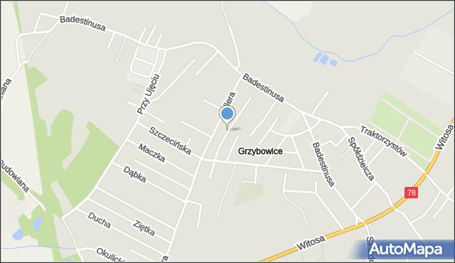 Zabrze, Szczecińska, mapa Zabrza