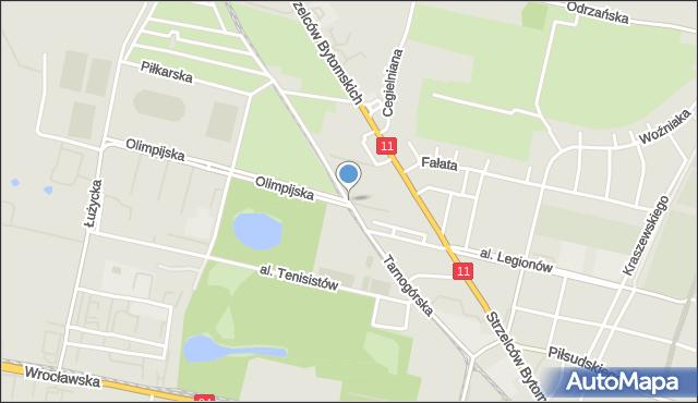 Bytom, Tarnogórska, mapa Bytomia