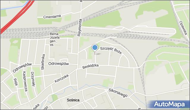 Gliwice, Tatrzańska, mapa Gliwic