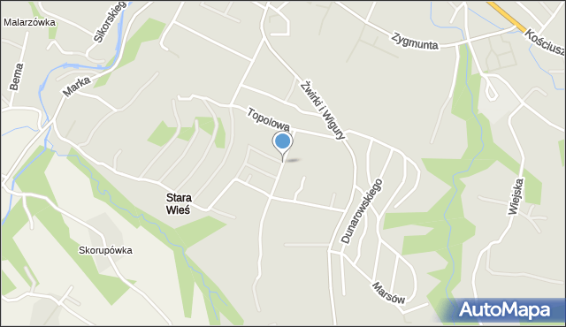 Limanowa, Tabora Wilhelma, mapa Limanowa