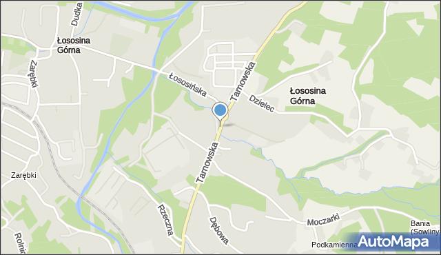 Limanowa, Tarnowska, mapa Limanowa