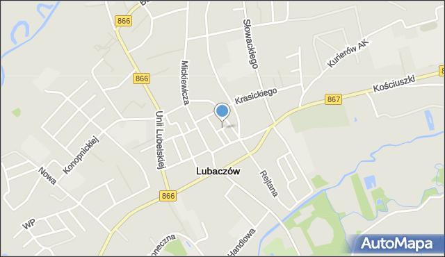 Lubaczów, Targowa, mapa Lubaczów