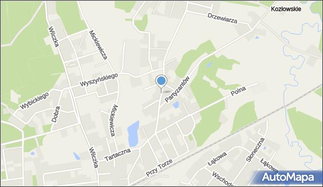 Luzino, Tartaczna, mapa Luzino