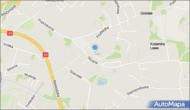 Mikołów, Taborowa Kępa, mapa Mikołów