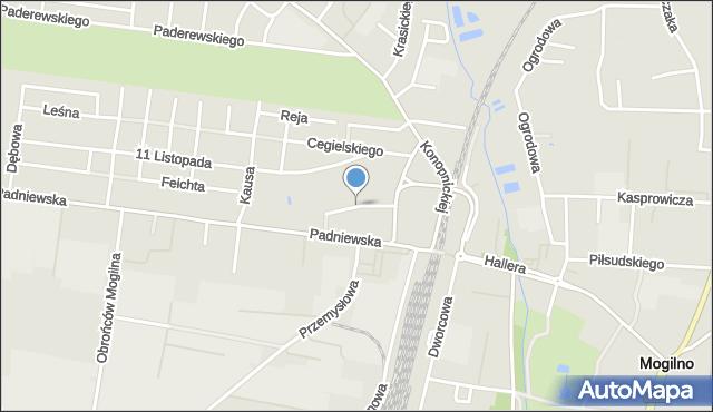 Mogilno, Taczaka Stanisława, gen., mapa Mogilno