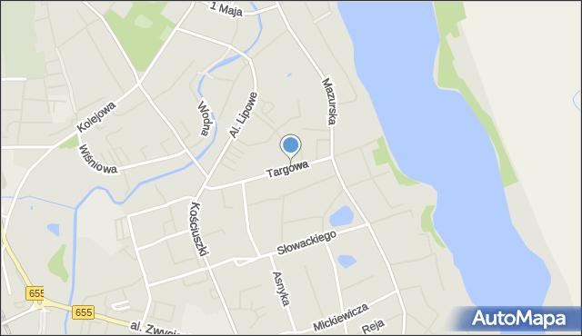 Olecko, Targowa, mapa Olecko