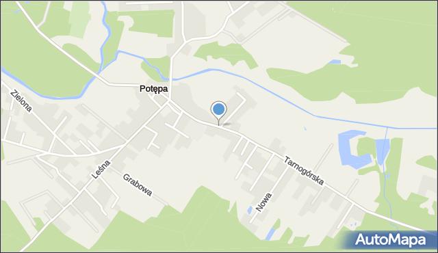 Potępa, Tarnogórska, mapa Potępa