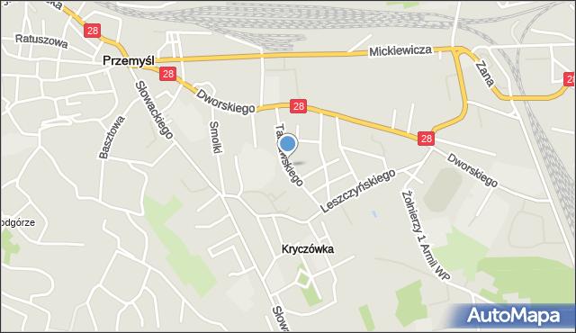 Przemyśl, Tarnawskiego Leonarda, mapa Przemyśla