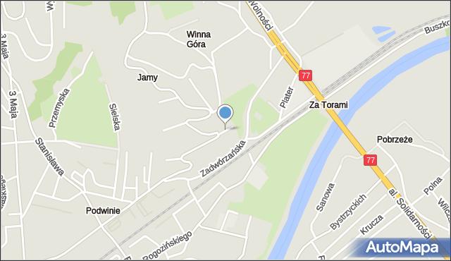 Przemyśl, Tarnowskiego Jana, mapa Przemyśla