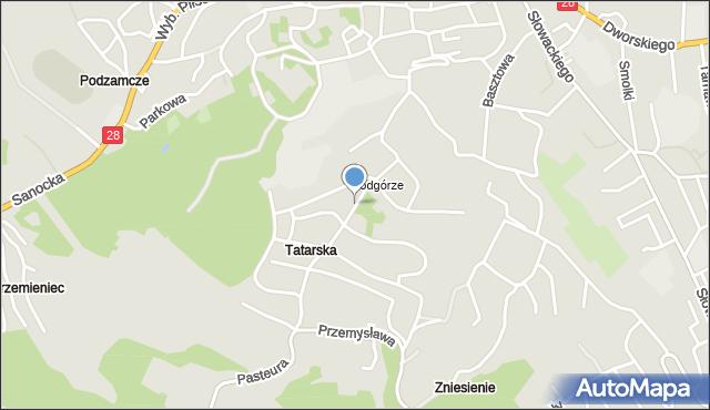 Przemyśl, Tatarska, mapa Przemyśla