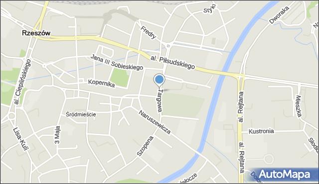Rzeszów, Targowa, mapa Rzeszów
