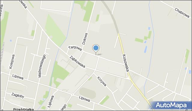 Sokołów Podlaski, Targowa, mapa Sokołów Podlaski