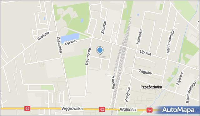 Sokołów Podlaski, Tartaczna, mapa Sokołów Podlaski