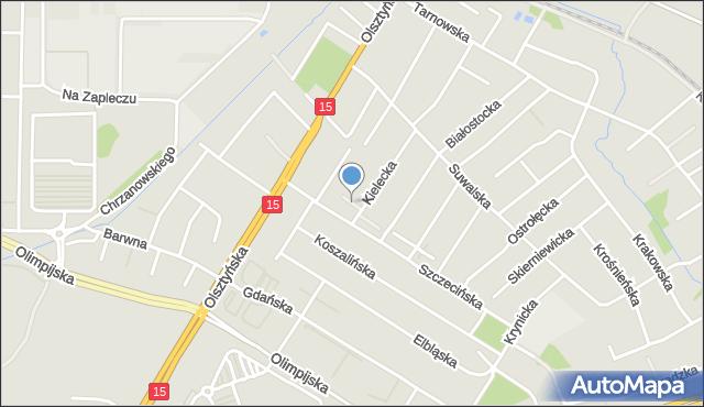 Toruń, Tarnobrzeska, mapa Torunia