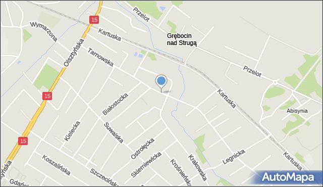 Toruń, Tarnowska, mapa Torunia