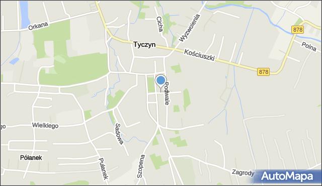 Tyczyn powiat rzeszowski, Targowa, mapa Tyczyn powiat rzeszowski
