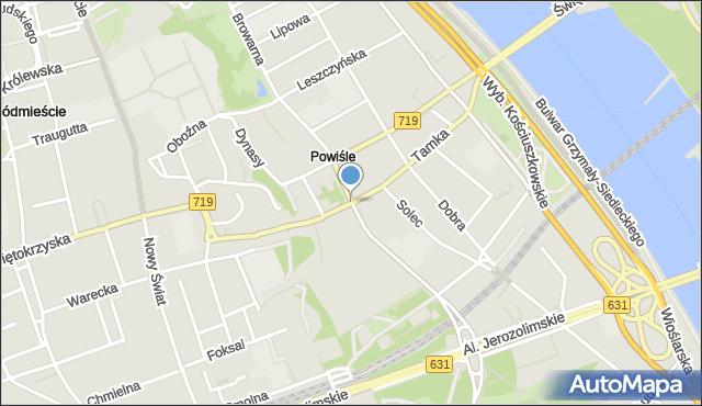 Warszawa, Tamka, mapa Warszawy
