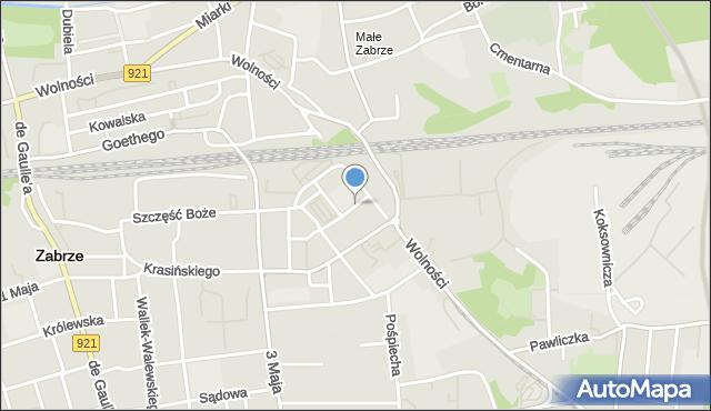 Zabrze, Targowa, mapa Zabrza