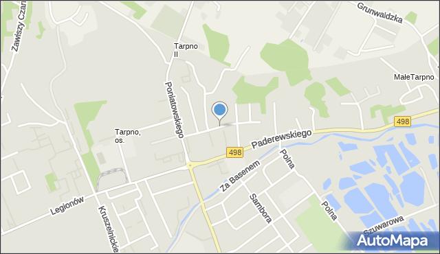 Grudziądz, Tczewska, mapa Grudziądza