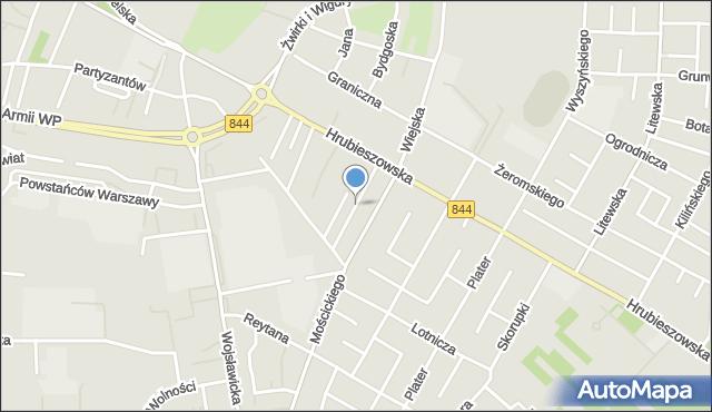 Chełm, Tęczowa, mapa Chełma