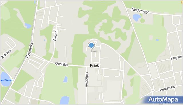 Chorzów, Tęczowa, mapa Chorzów