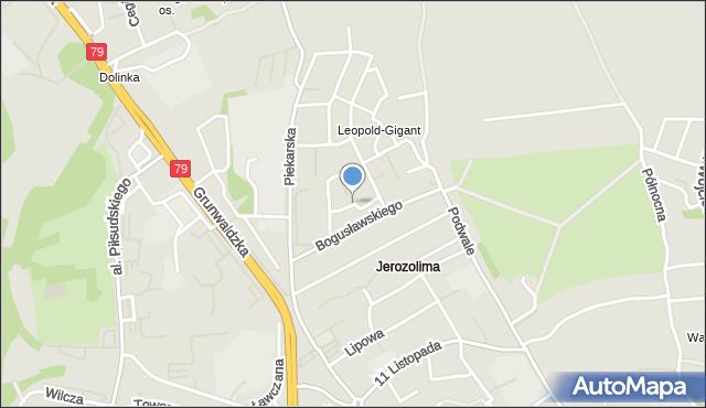 Jaworzno, Tęczowa, mapa Jaworzno
