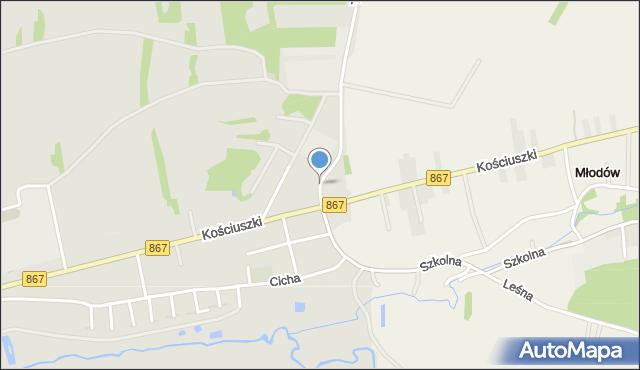 Lubaczów, Techniczna, mapa Lubaczów