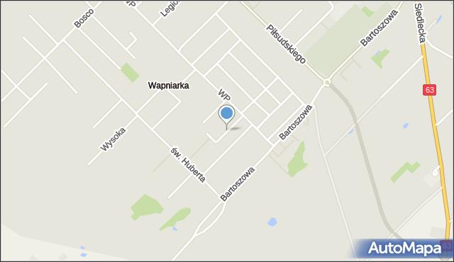 Sokołów Podlaski, Tęczowa, mapa Sokołów Podlaski