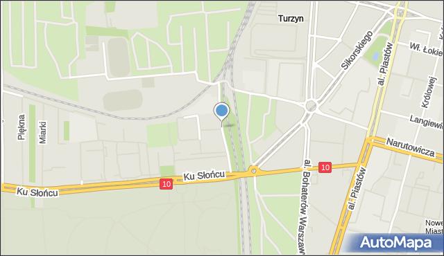 Szczecin, Tenisowa, mapa Szczecina