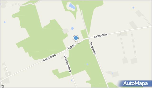 Tępcz, Tępcz, mapa Tępcz