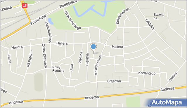 Toruń, Tęczowa, mapa Torunia