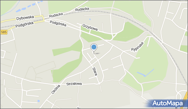 Toruń, Telimeny, mapa Torunia