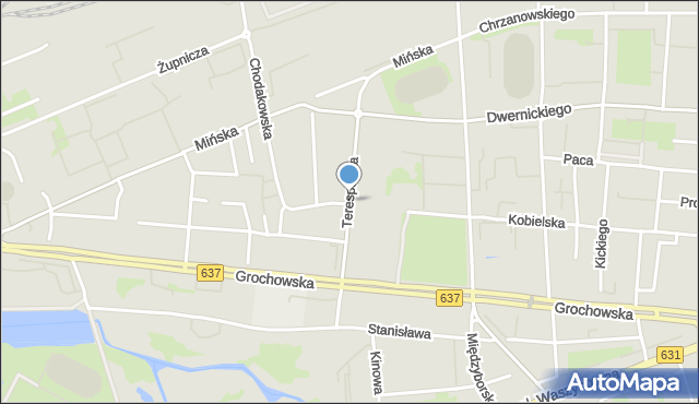 Warszawa, Terespolska, mapa Warszawy