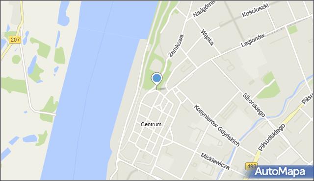 Grudziądz, Tkacka, mapa Grudziądza