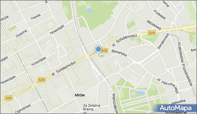 Warszawa, Tłomackie, mapa Warszawy